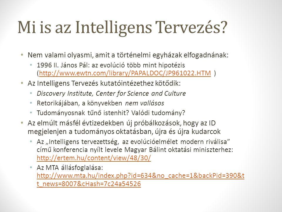 Mi is az Intelligens Tervezés.