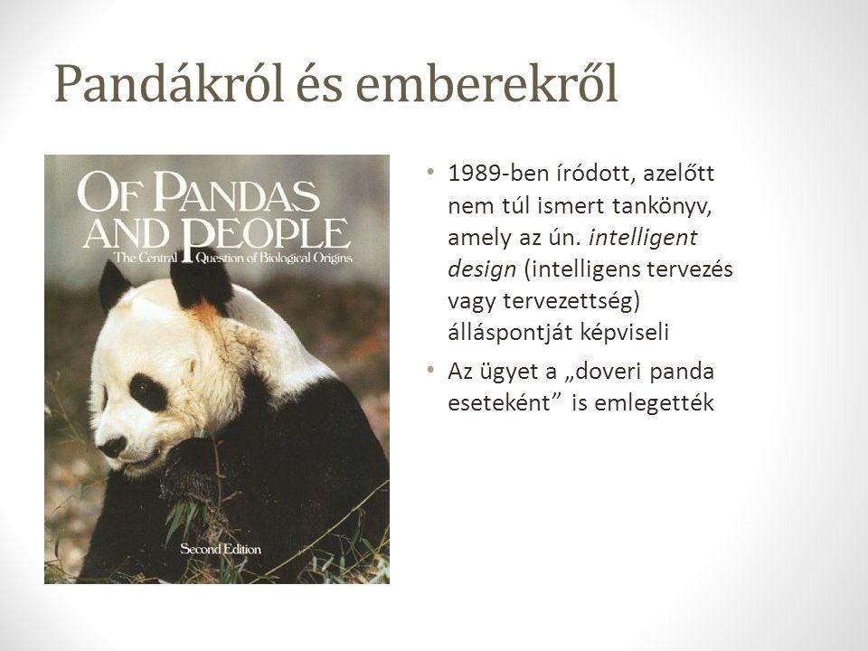 Pandákról és emberekről 1989-ben íródott, azelőtt nem túl ismert tankönyv, amely az ún.