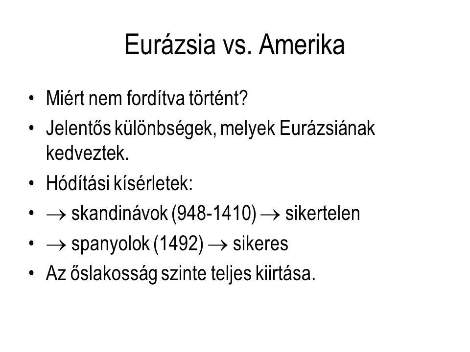 Eurázsia vs.Amerika Miért nem fordítva történt.