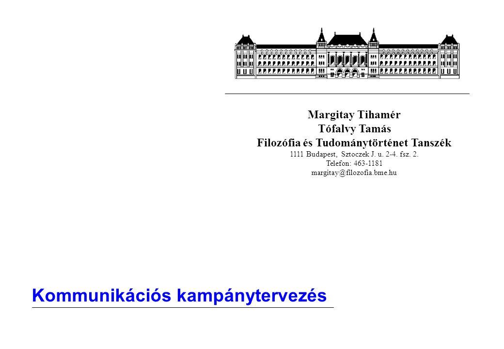 Margitay Tihamér Tófalvy Tamás Filozófia és Tudománytörténet Tanszék 1111 Budapest, Sztoczek J.