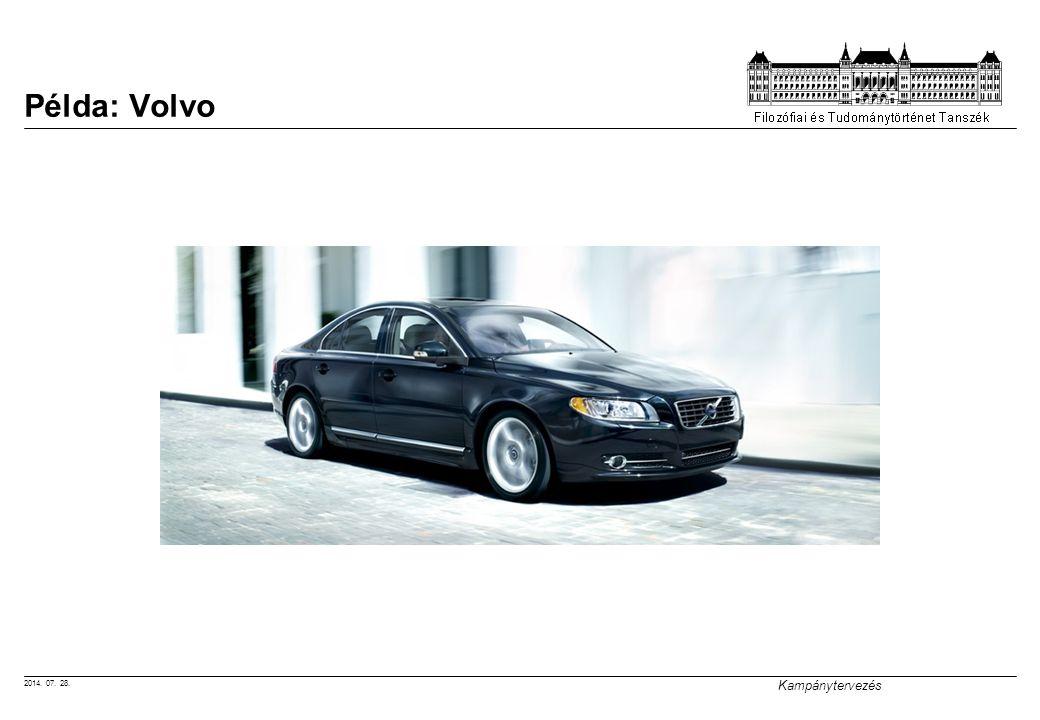 2014. 07. 28. Kampánytervezés Példa: Volvo