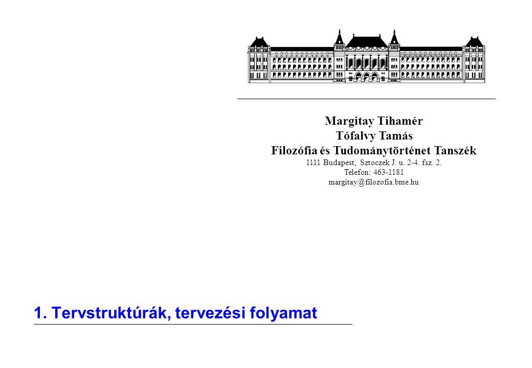 Margitay Tihamér Tófalvy Tamás Filozófia és Tudománytörténet Tanszék 1111 Budapest, Sztoczek J. u. 2-4. fsz. 2. Telefon: 463-1181 margitay@filozofia.b