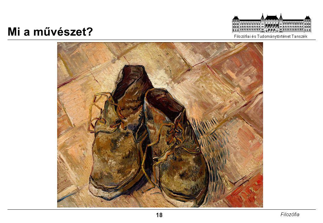18 Filozófia Mi a művészet?