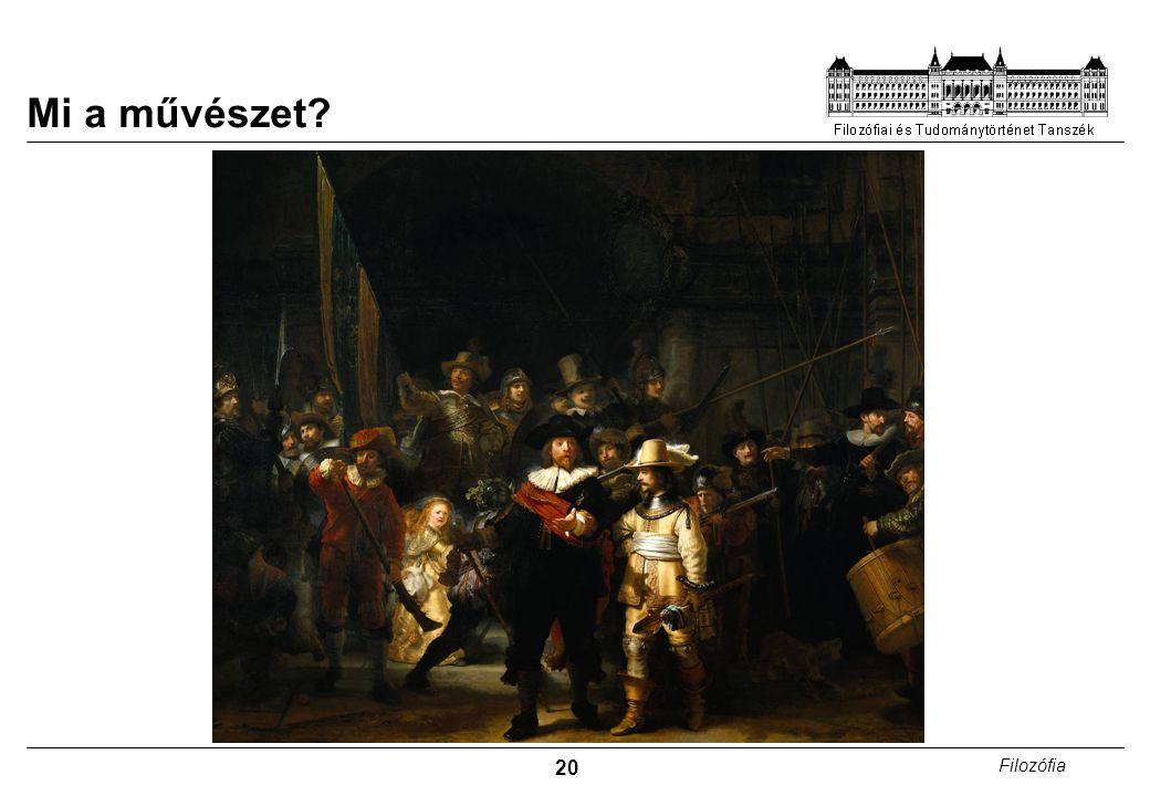 20 Filozófia Mi a művészet?