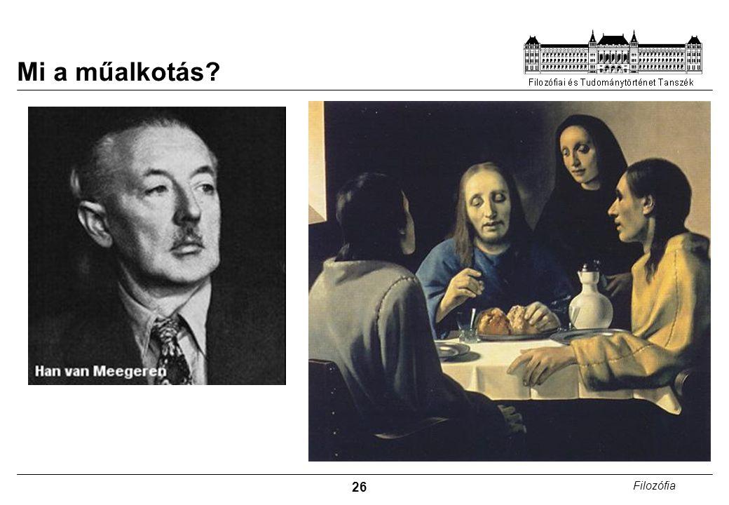 26 Filozófia Mi a műalkotás?
