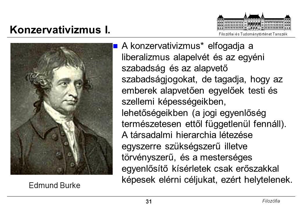 31 Filozófia Konzervativizmus I.