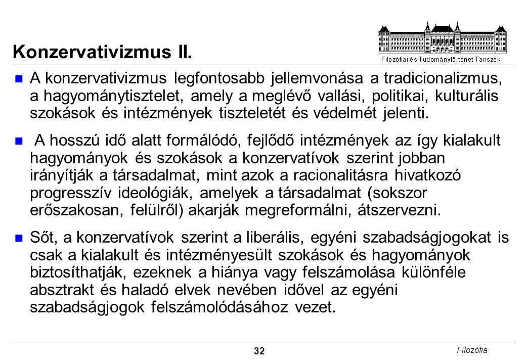 32 Filozófia Konzervativizmus II.