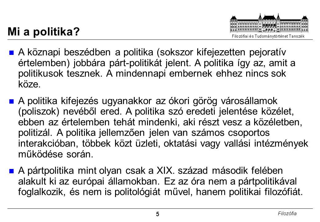 5 Filozófia Mi a politika.