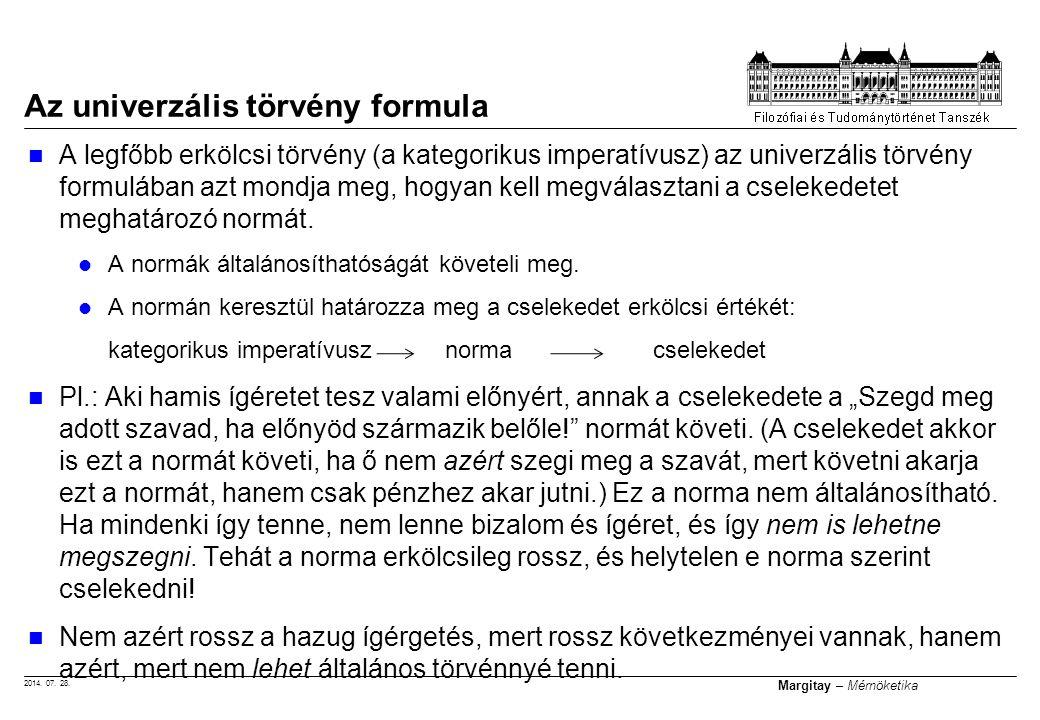 2014.07. 28. Margitay – Mérnöketika Valószínűleg nincs teljes listánk a kötelességekről.