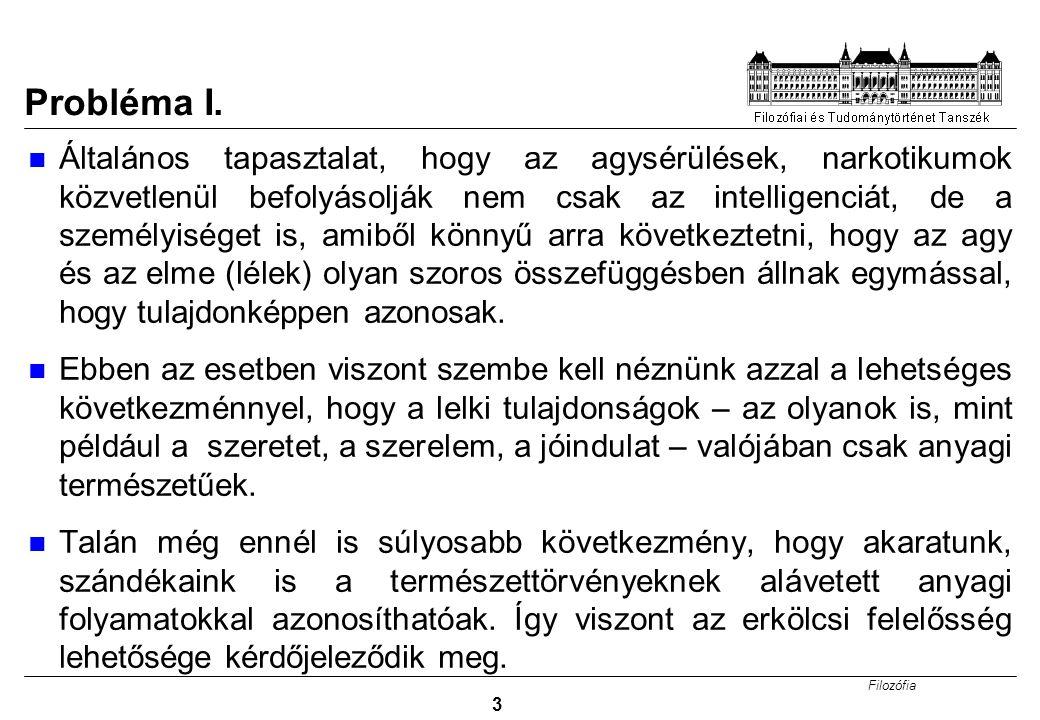 Filozófia 14 Probléma: Sokszoros Realizálhatóság I.