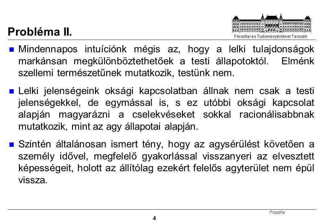 Filozófia 25 Egyéb problémák a funkcionalizmussal 1.