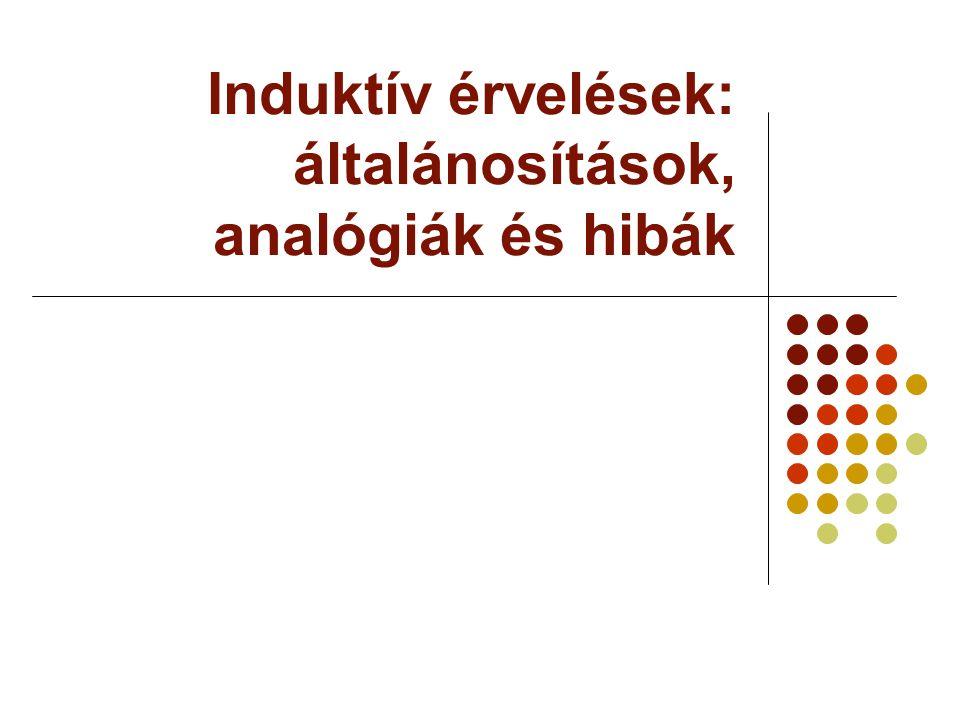 Induktív érvelések: általánosítások, analógiák és hibák