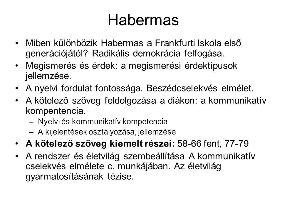 Nyilvánosság: Habermas: A polgári nyilvánosság szerkezetváltozása Mi jellemezte Habermas szerint a polgári nyilvánosság kialakulását.
