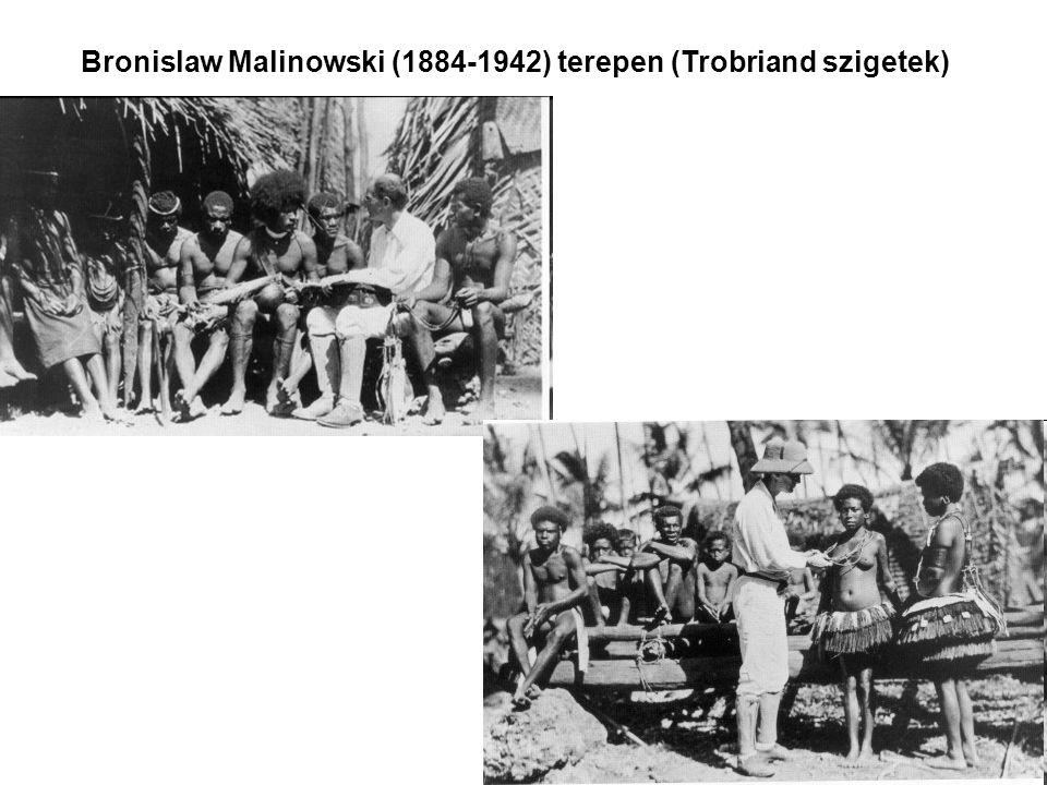 Malinowski funkcionalizmusa Bronislaw Malinowski (1884-1942) lengyel származású antropológus, aki a londoni School of Economics-on tanult, majd később az iskola első kinevezett antropológia professzora lett.