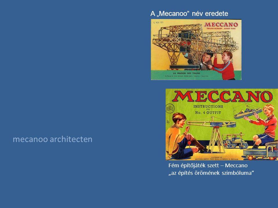 """mecanoo architecten A """"Mecanoo név eredete Fém építőjáték szett – Meccano """"az építés örömének szimbóluma"""