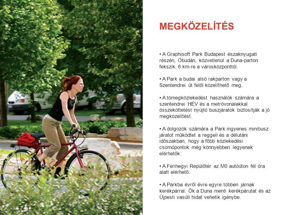 MEGKÖZELÍTÉS A Graphisoft Park Budapest északnyugati részén, Óbudán, közvetlenül a Duna-parton fekszik, 6 km-re a városközponttól. A Park a budai alsó