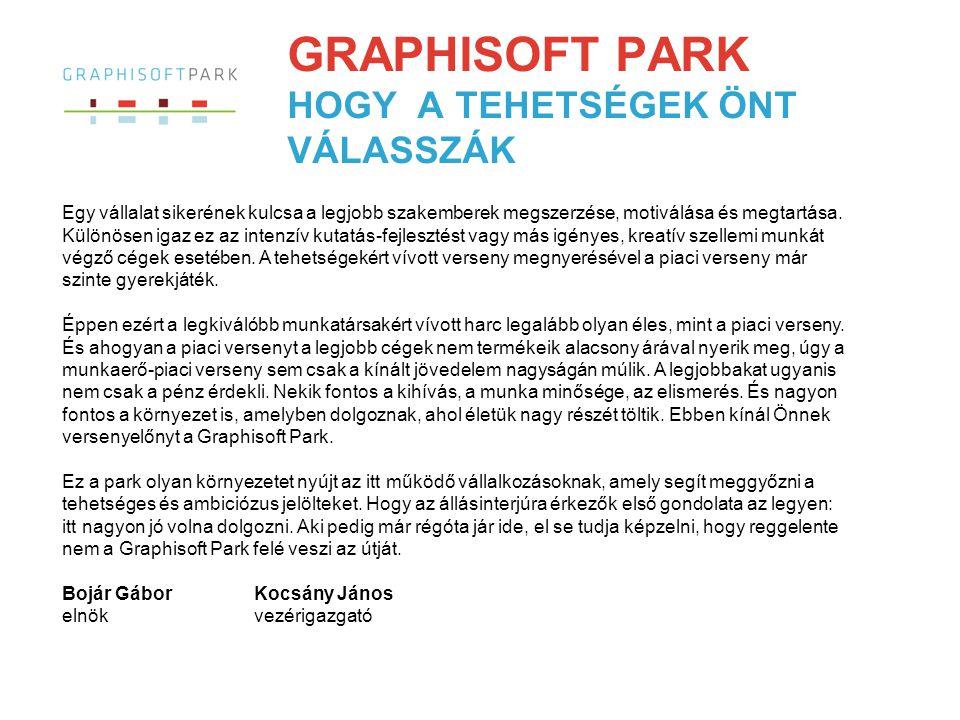 FOLYAMATOS NÖVEKEDÉS A Graphisoft Parkot a szoftverfejlesztő Graphisoft – amely megalkotta az egyik legnépszerűbb építész tervezőprogramot, az ArchiCAD®-et – eredetileg magának építette 1998-ban.