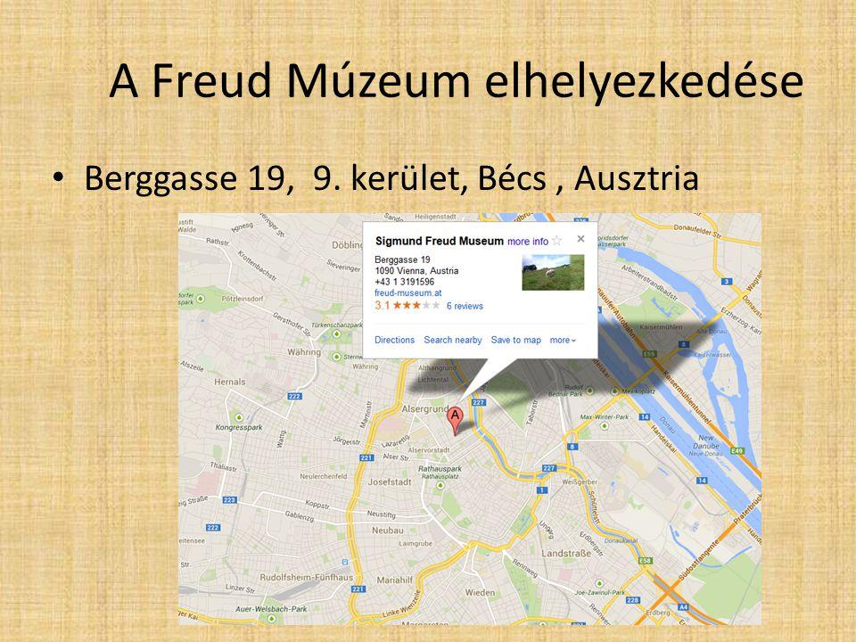 A Freud Múzeum elhelyezkedése Berggasse 19, 9. kerület, Bécs, Ausztria