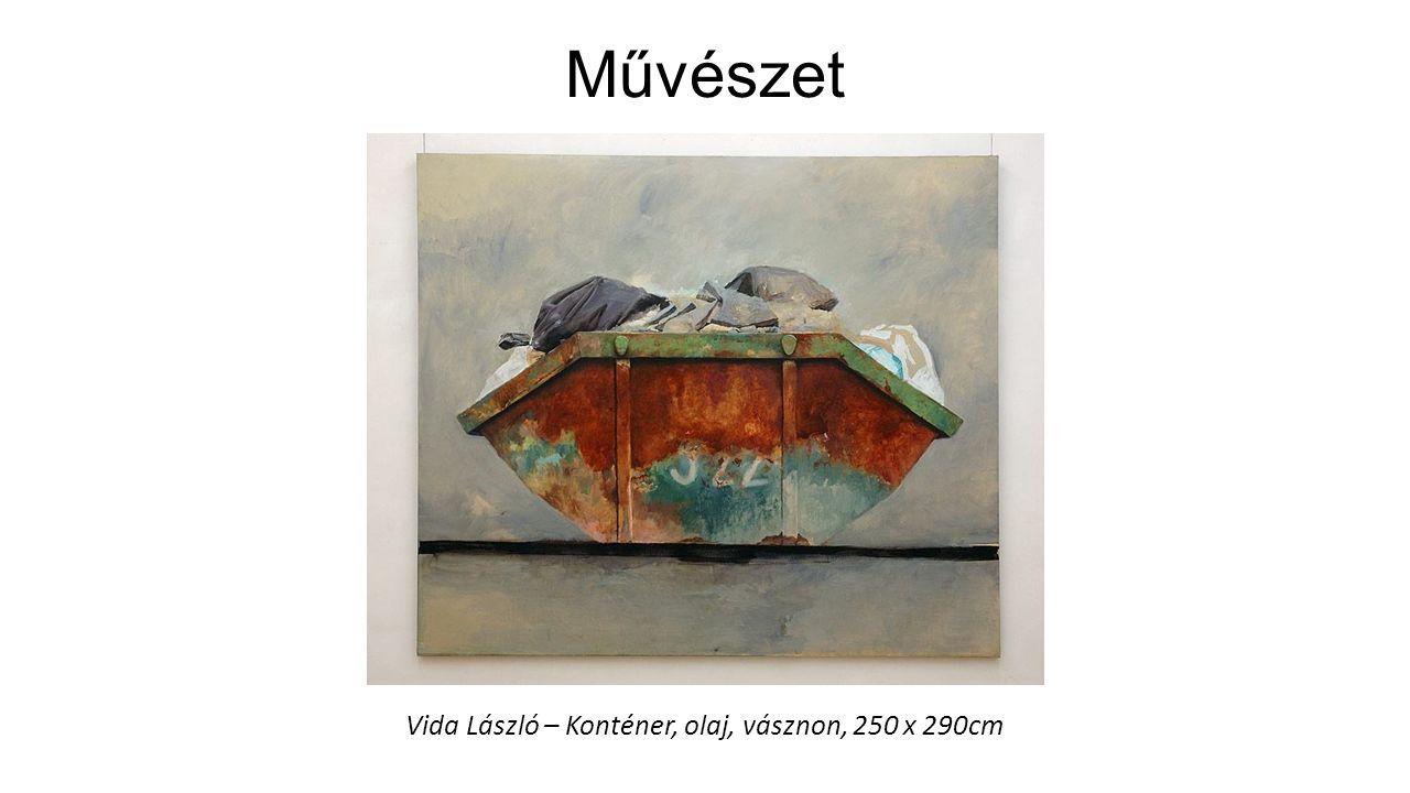 Művészet Vida László – Konténer, olaj, vásznon, 250 x 290cm