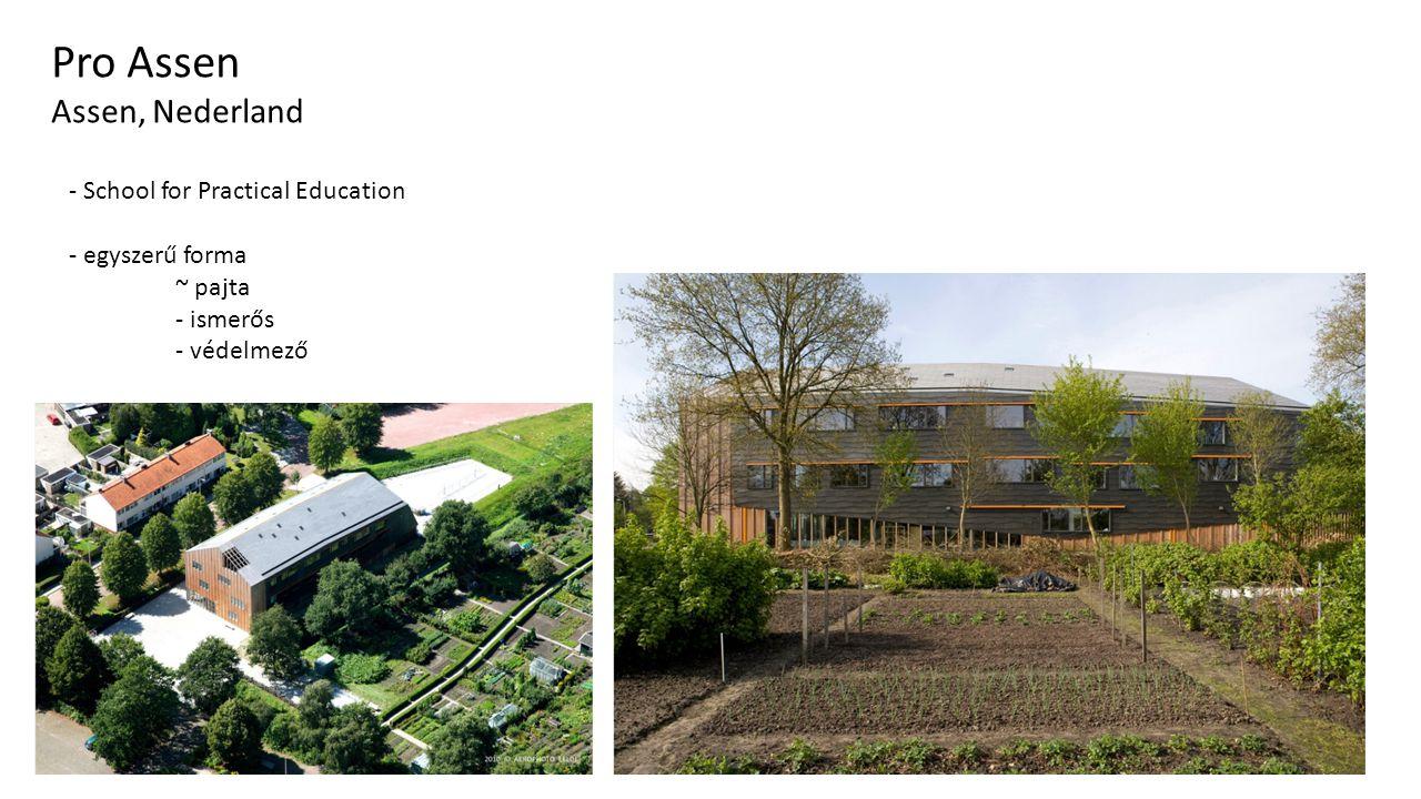 Traffic Bridge Sneek Pro Assen Assen, Nederland - School for Practical Education - egyszerű forma ~ pajta - ismerős - védelmező