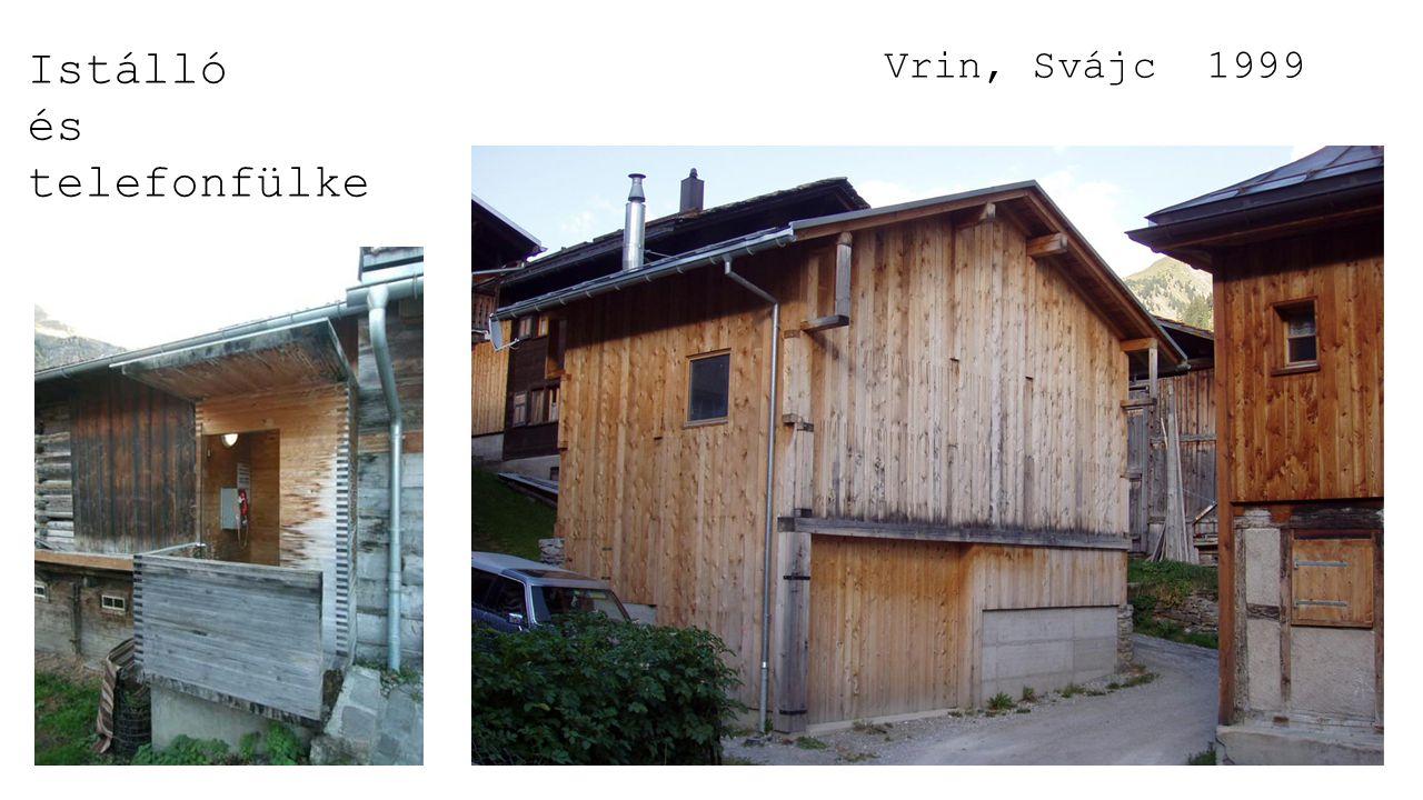 Istálló és telefonfülke Vrin, Svájc 1999
