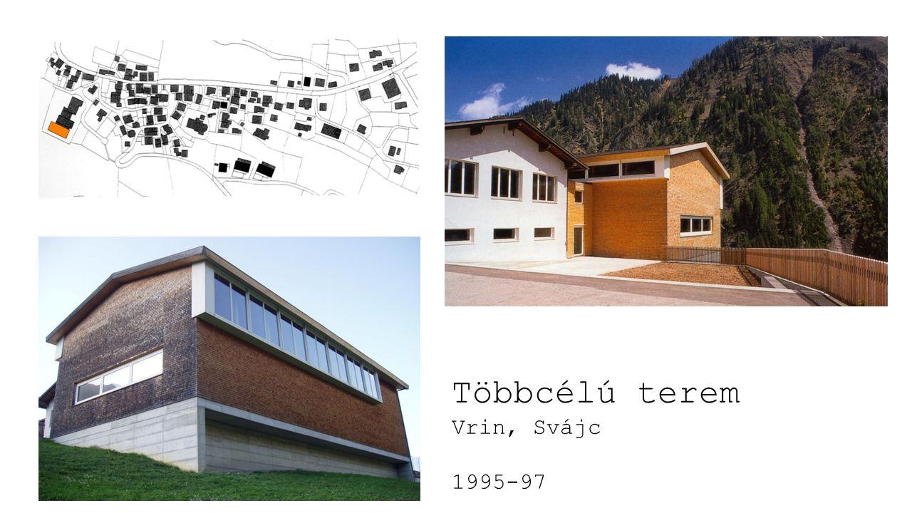 Többcélú terem Vrin, Svájc 1995-97
