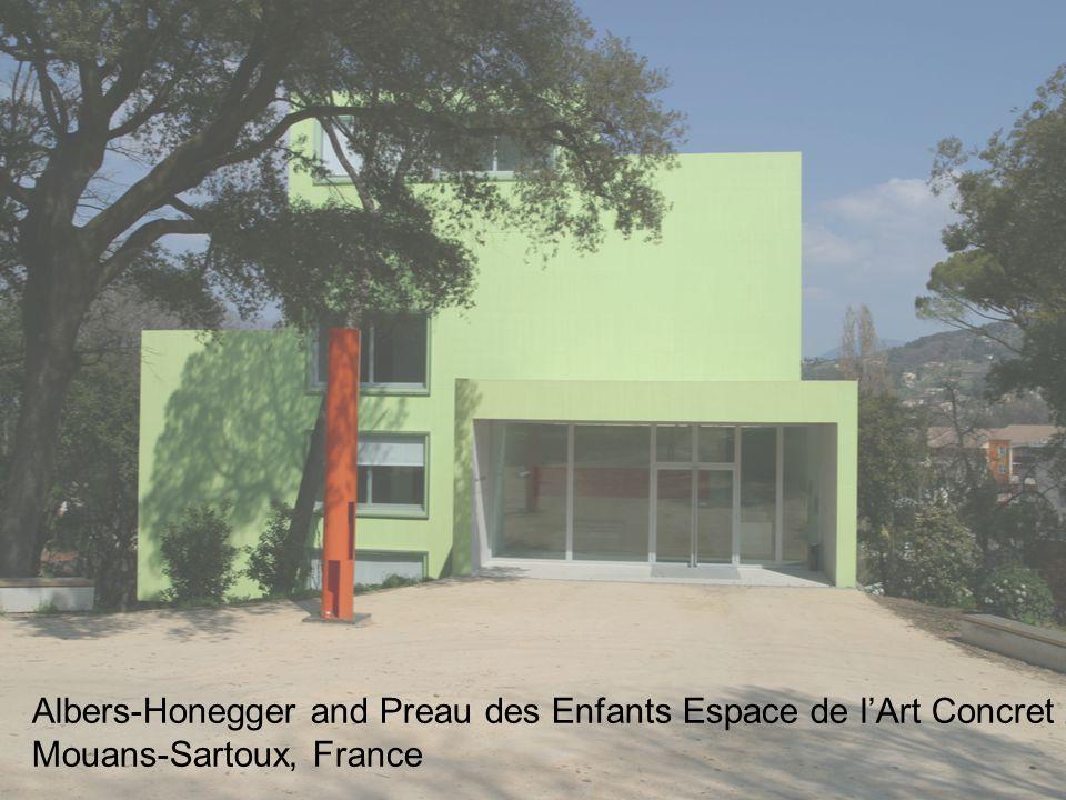Albers-Honegger and Preau des Enfants Espace de l'Art Concret / Mouans-Sartoux, France