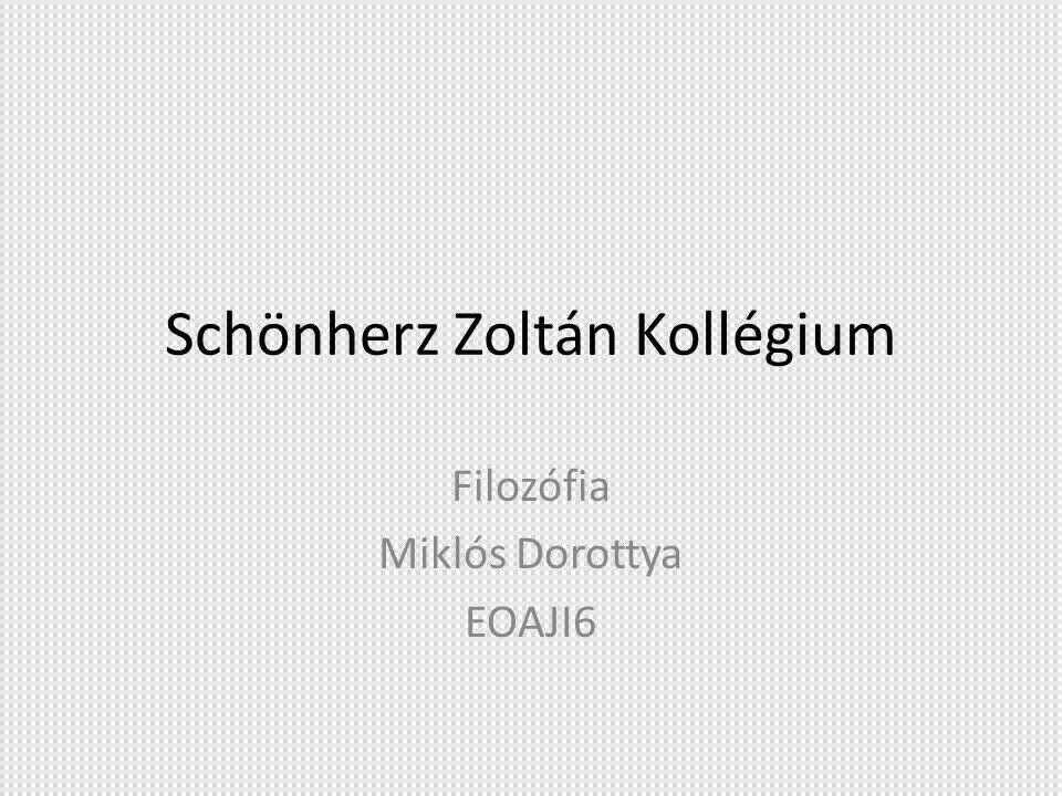 Schönherz Zoltán Kollégium Filozófia Miklós Dorottya EOAJI6