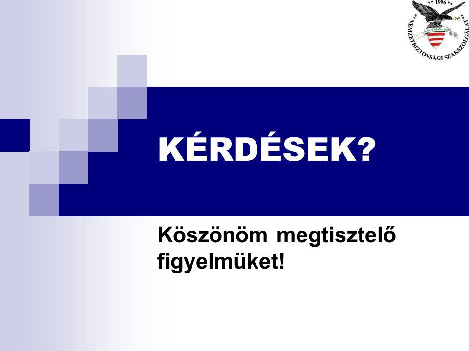 Felhasznált irodalom n www.cepol.europa.eu/ n www.aprn.org.za/Links/default.asp?catFilter=So uth%20Africa – n www.policeforum.org/ www.policeforum.org
