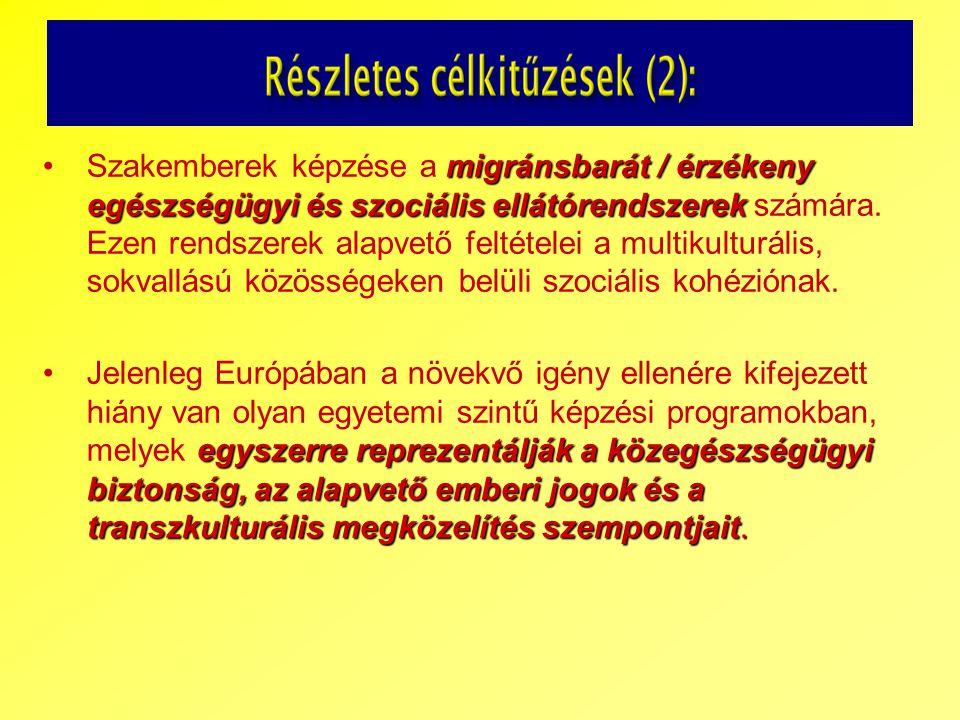 migránsbarát / érzékeny egészségügyi és szociális ellátórendszerekSzakemberek képzése a migránsbarát / érzékeny egészségügyi és szociális ellátórendsz