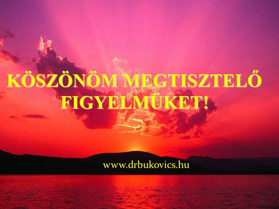 www.drbukovics.hu 31 KÖSZÖNÖM MEGTISZTELŐ FIGYELMÜKET !