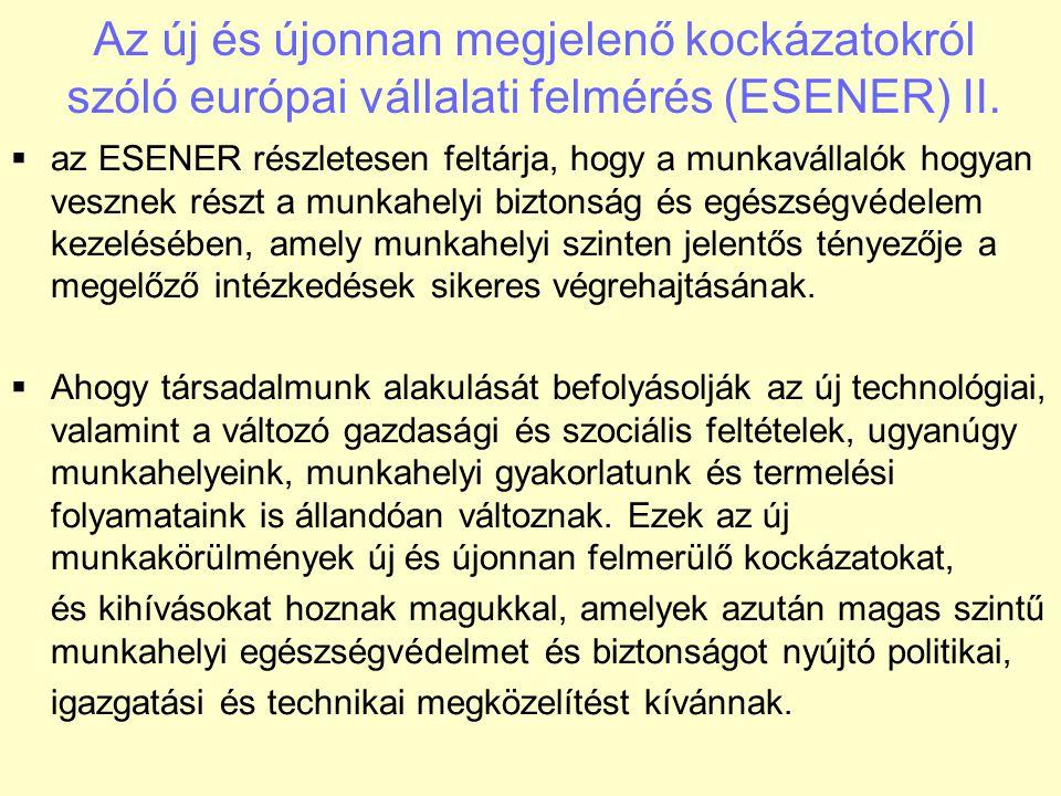 Az új és újonnan megjelenő kockázatokról szóló európai vállalati felmérés (ESENER) III.