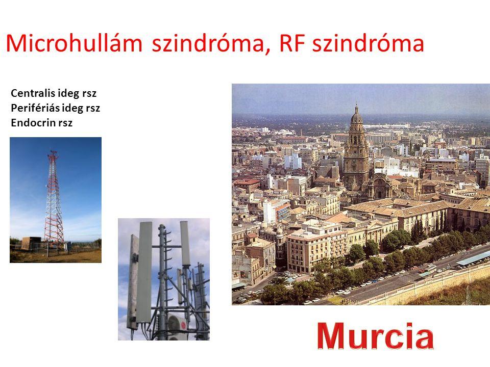 Centralis ideg rsz Perifériás ideg rsz Endocrin rsz Microhullám szindróma, RF szindróma