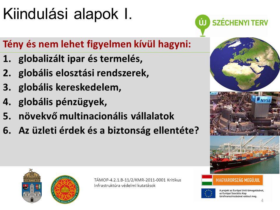 Kiindulási alapok I. Tény és nem lehet figyelmen kívül hagyni: 1.globalizált ipar és termelés, 2.globális elosztási rendszerek, 3.globális kereskedele