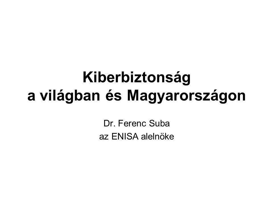 Kiberbiztonság a világban és Magyarországon Dr. Ferenc Suba az ENISA alelnöke