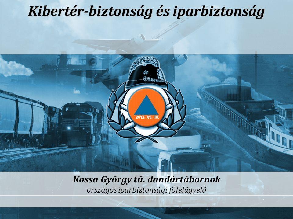 -1- Kibertér-biztonság és iparbiztonság Kossa György tű. dandártábornok országos iparbiztonsági főfelügyelő 2012. 09. 18.