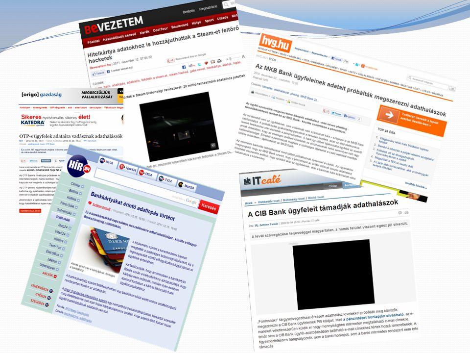 Néhány támadás: bankkártya adatok megszerzése az internetről
