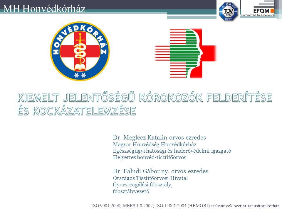 ISO 9001:2008; MEES 1.0/2007; ISO 14001:2004 (HÉMORI) szabványok szerint tanúsított kórház MH Honvédkórház Dr.