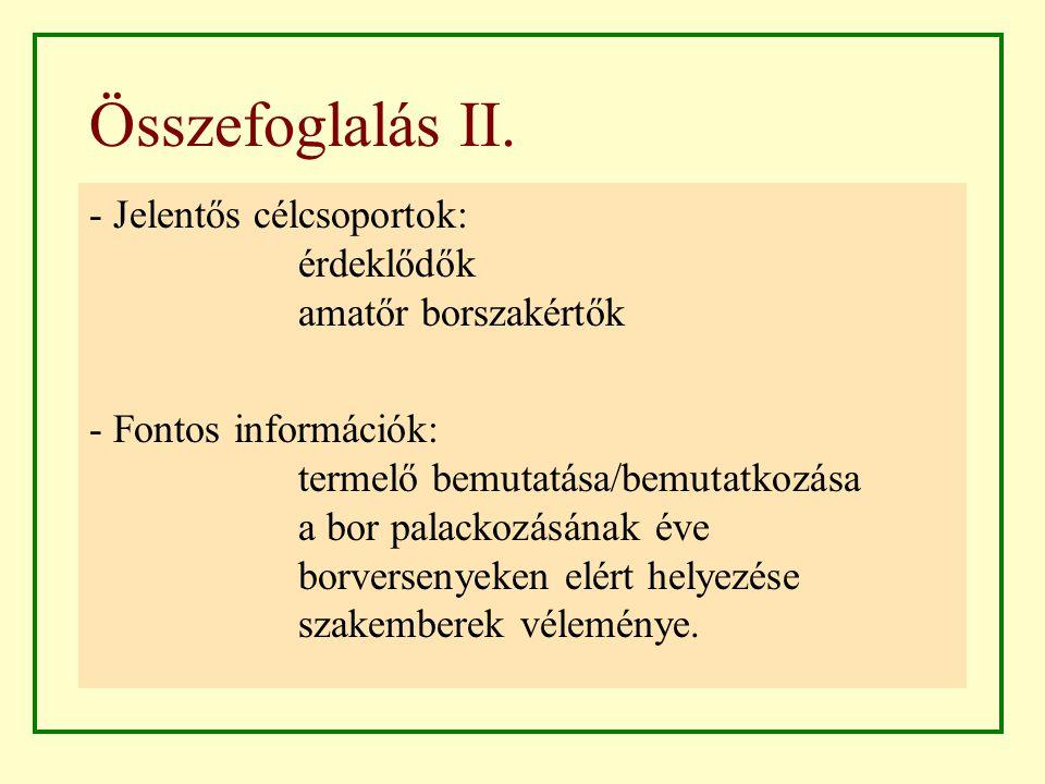 Összefoglalás II.