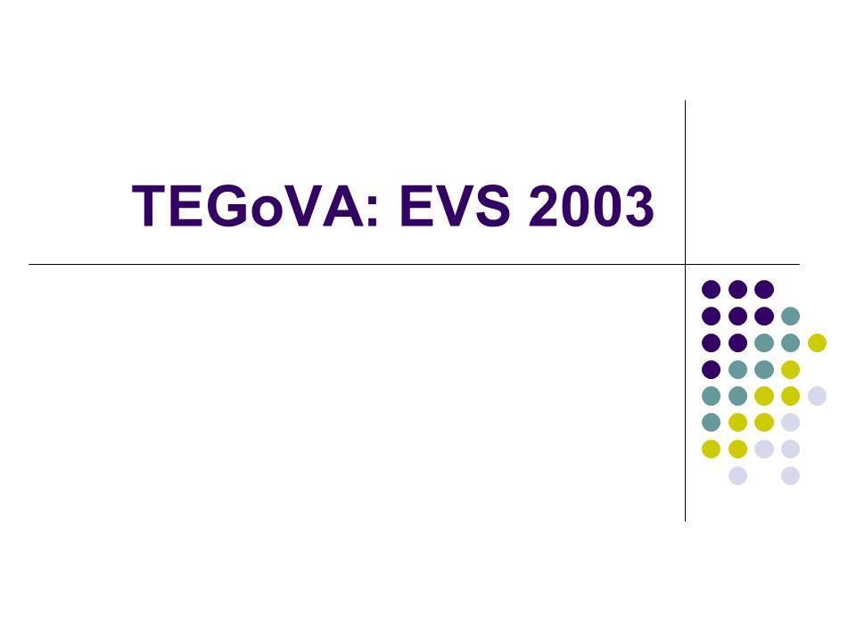 TEGoVA: EVS 2003