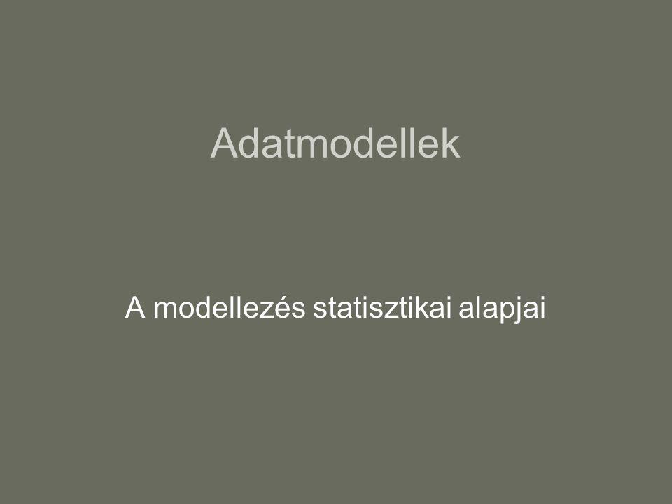 Adatmodellek A modellezés statisztikai alapjai