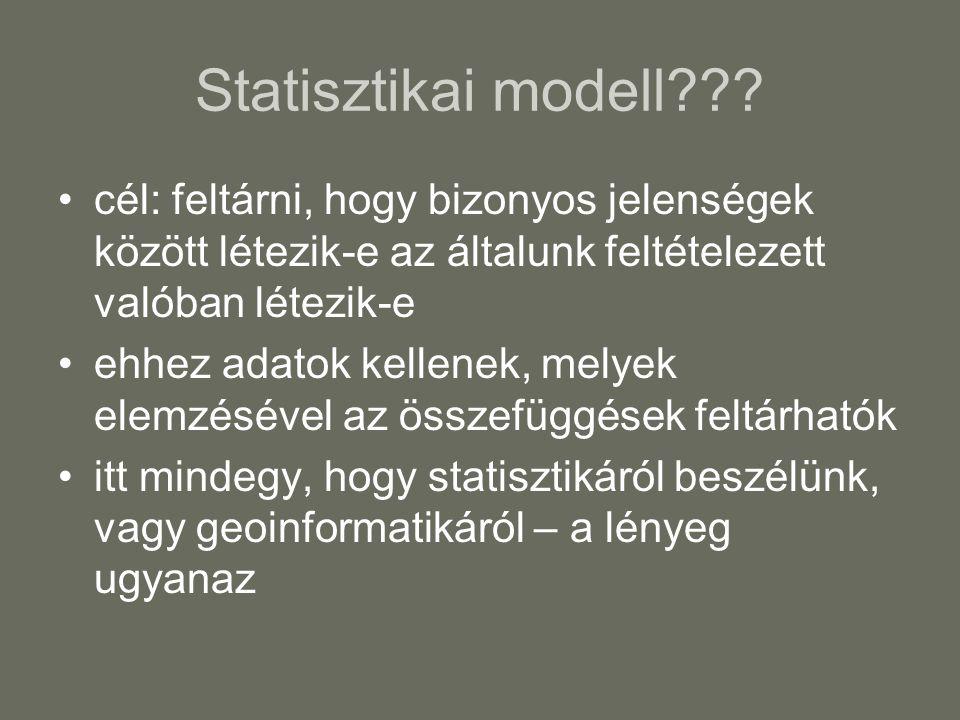 Statisztikai modell .
