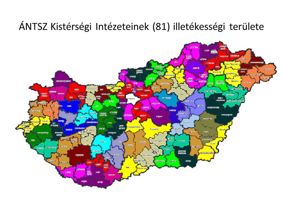 ÁNTSZ Kistérségi Intézeteinek (81) illetékességi területe