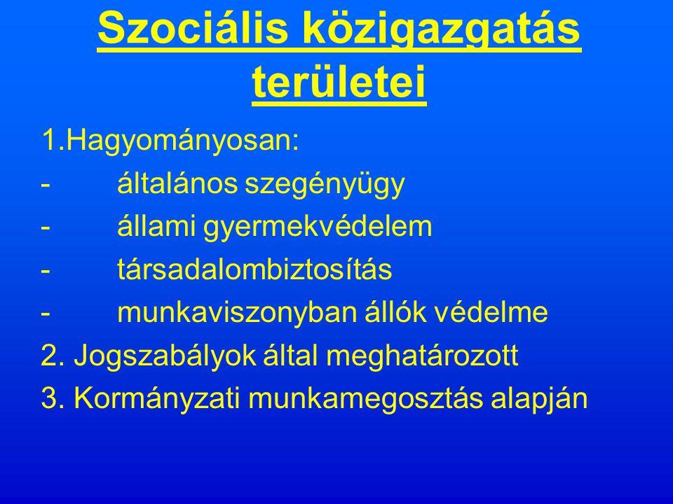 Szociális közigazgatás tevékenységi formái jogszabályalkotás hatósági jogalkalmazás szervezés finanszírozás hatósági ellenőrzés közigazgatási szervek irányítása intézmények irányítása