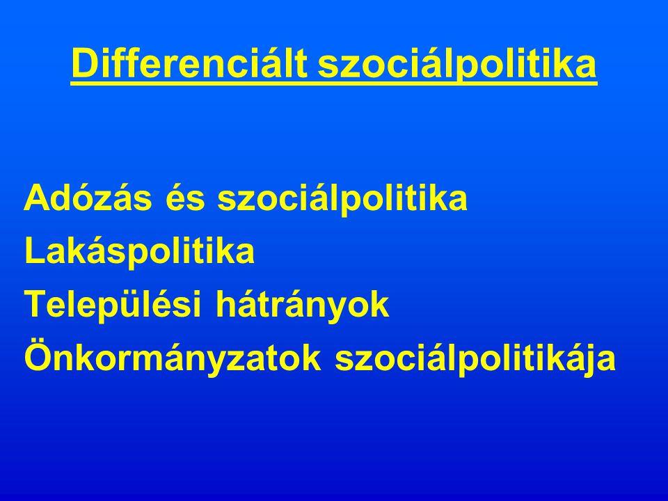 Differenciált szociálpolitika Vass Péter 2008.