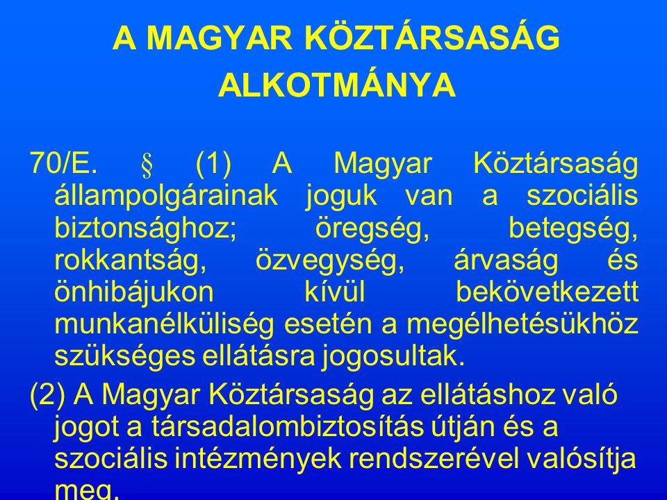 Törvényi háttér Alkotmány (1949.évi XX. tv.) Önkormányzati törvény (1990.