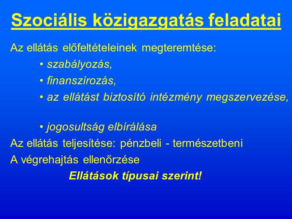Szociális közigazgatás részei a közigazgatás szociális szervezetei (minisztériumok, országos szervek, közigazgatási hivatal, önkormányzatok, jegyző) személyzete, a területre vonatkozó jogi és egyéb szabályok.