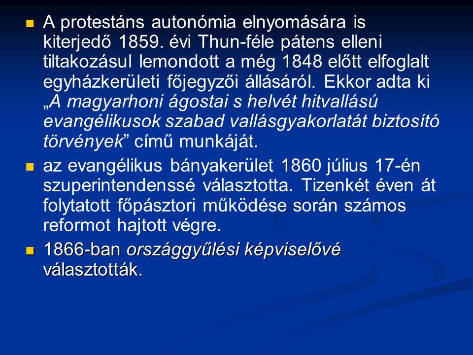 A protestáns autonómia elnyomására is kiterjedő 1859.