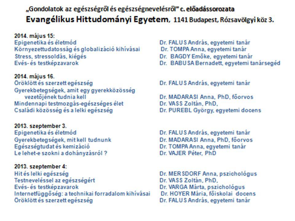 Az EDUVITAL főbb tevékenységei OKTATÁS  Semmelweis Egyetem Egészségtudományi Kar (4. félév)  ELTE Tanító és Óvóképző Kar (2. félév)  Pázmány Péter