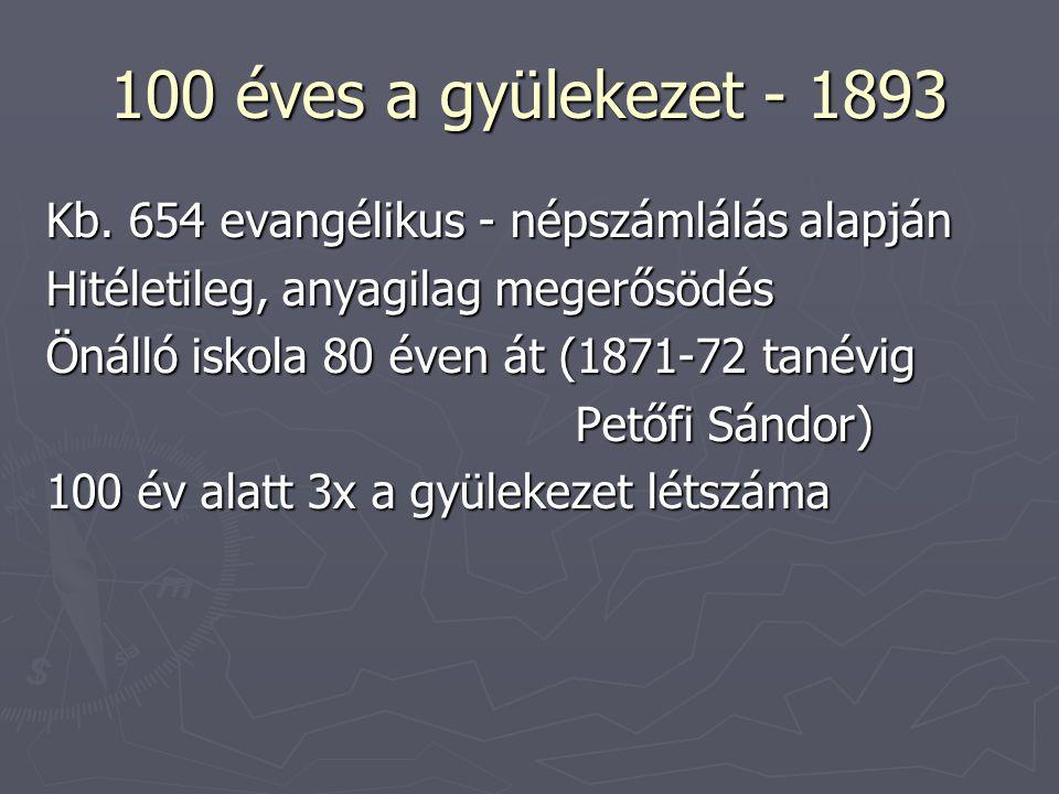 100 éves a gyülekezet - 1893 Kb.